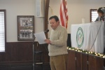 Andy Shuman giving Membership Report December Meeting